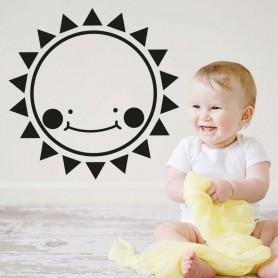 Vinilo infantil sol