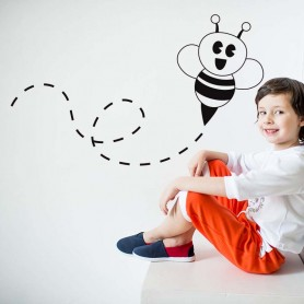 Vinilo infantil abeja ilustración