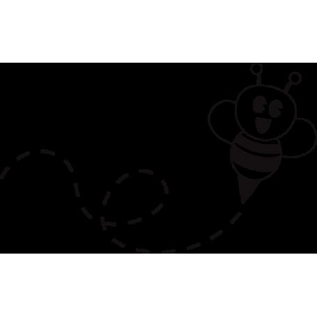 Vinilo abeja ilustración