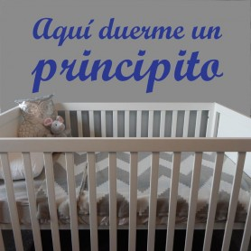 Vinilo infantil duerme principito