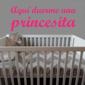 Vinilo infantil duerme princesita