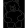 Vinilo oso corazón