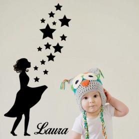 Vinilo infantil hada personalizada