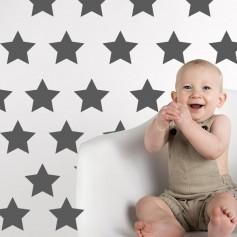 Vinilos infantiles estrellas negras, blancas