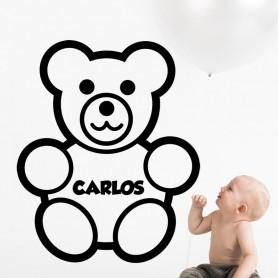 Vinilo infantil osito personalizado