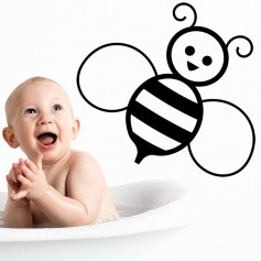Adhesivo vinilo infantil abeja