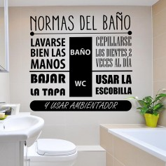 Vinilo normas baño