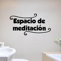 Vinilo baño espacio meditación