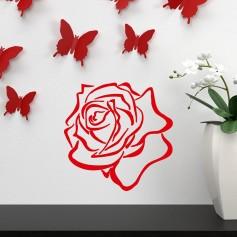Vinilo adhesivo decoración flor rosal