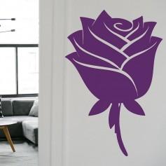 Vinilo decorativo rosa flor