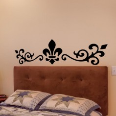 Vinilo pared cabecero floral