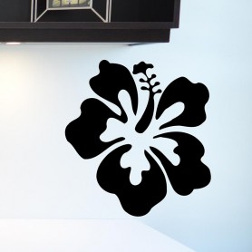 Vinilo decorativo pared hibiscus