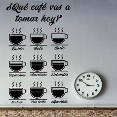 Vinilo cocina tipos café