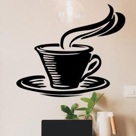 Vinilo cocina taza café