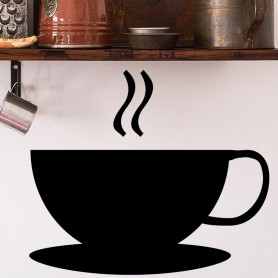 Vinilo pared taza