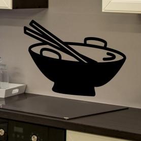 Vinilo para cocina plato wok