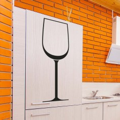 Vinilo para cocina copa de vino