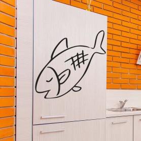 Vinilo ilustración pez