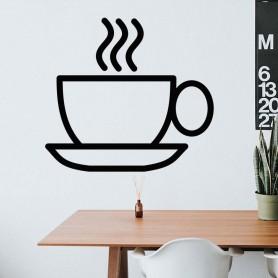 Vinilo decorativo taza té