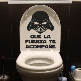 Vinilo para baños frase que la fuerza te acompañe