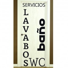 Vinilo para puerta de lavabos