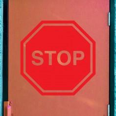 Vinilo para puerta señal Stop