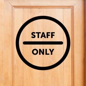 Vinilo puerta Staff Only