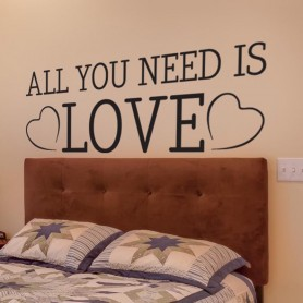 Vinilo decorativo cabecero All You Need Is Love