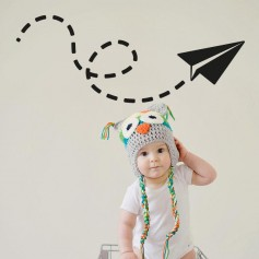 Vinilo infantil avión papel