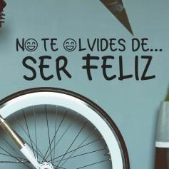 Vinilo No Olvides Ser Feliz
