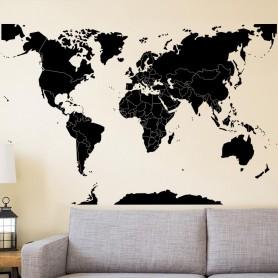 Vinilo mapamundo fronteras
