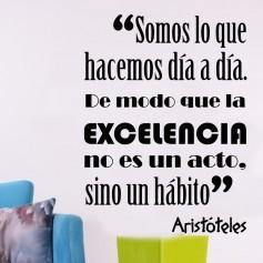 Vinilo frase Aristoteles excelencia