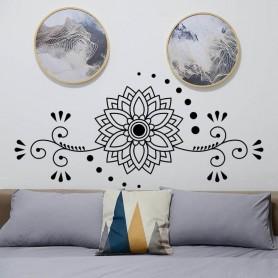 Vinilo pared cabecero flor loto