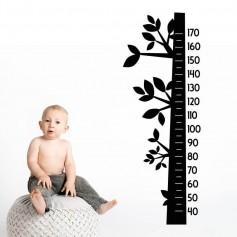 Vinilo infantil medidor forma árbol