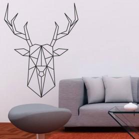 Vinilo ciervo geométrico