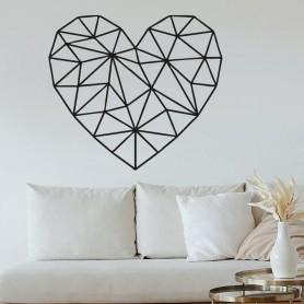 Vinilo pared corazón geométrico