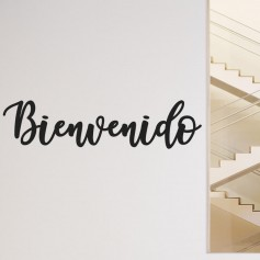 Vinilo Bienvenido caligráfico
