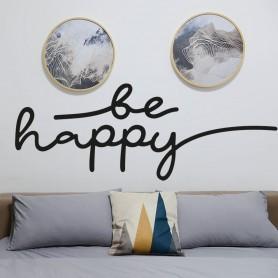 Vinilo cabecero cama Be Happy