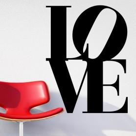 Vinilo pared LOVE texto