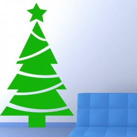 Vinilo árbol Navidad Guirnalda
