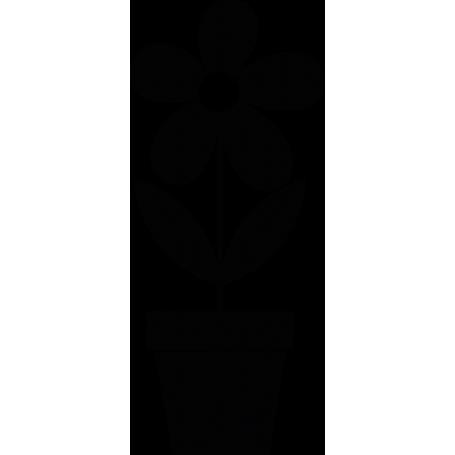 Vinilo decorativo maceta flor